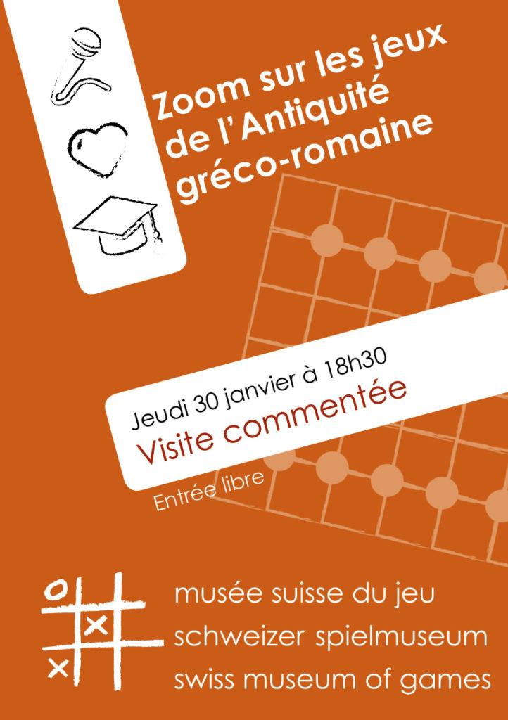 """""""Zoom sur les jeux de l'Antiquité gréco-romaine"""" @ Musée Suisse du Jeu"""